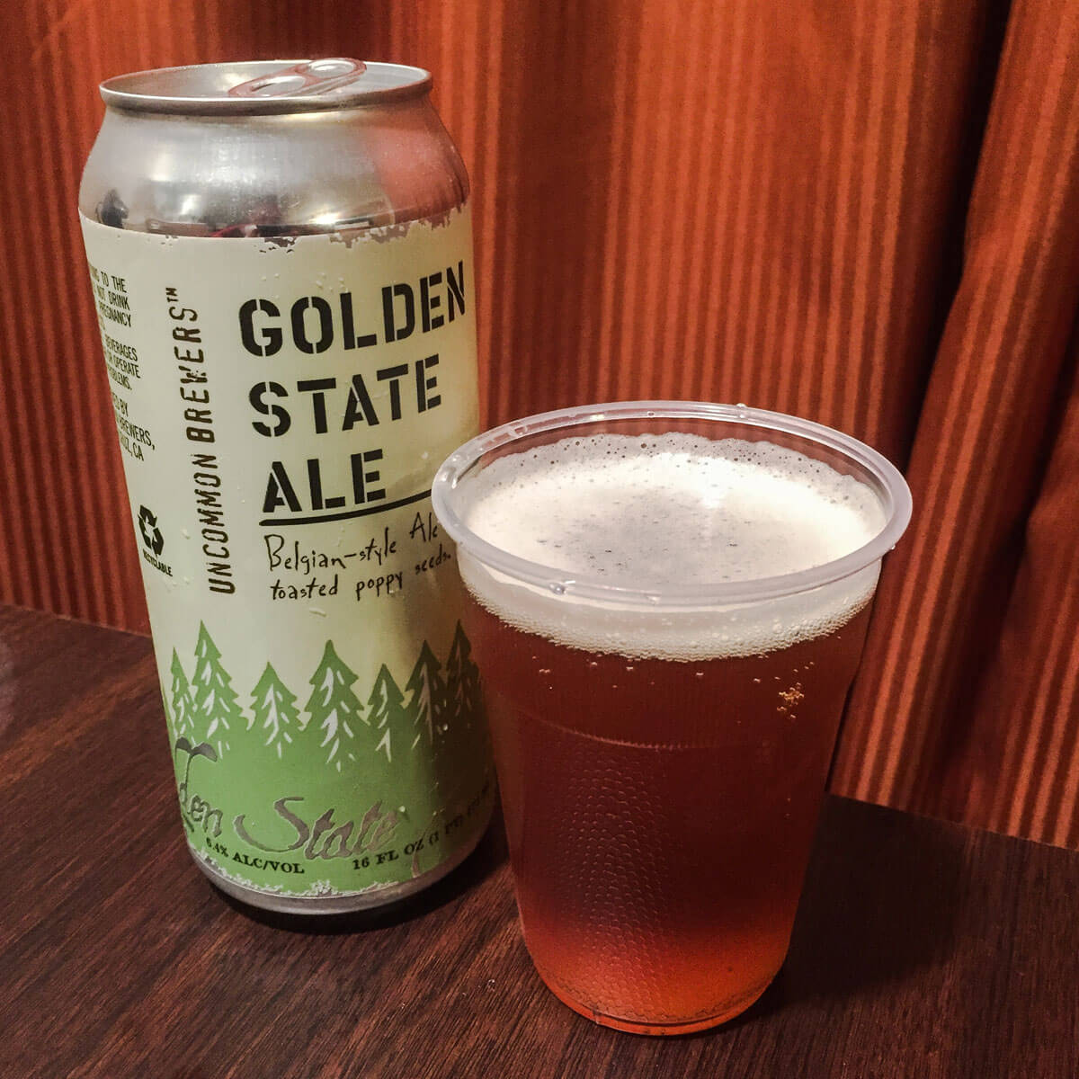 Golden State Ale, a Belgian-style Pale Ale by Uncommon Brewers