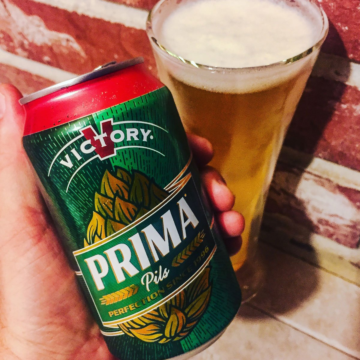 Prima Pils, a German-style Pilsener by Victory Brewing Company