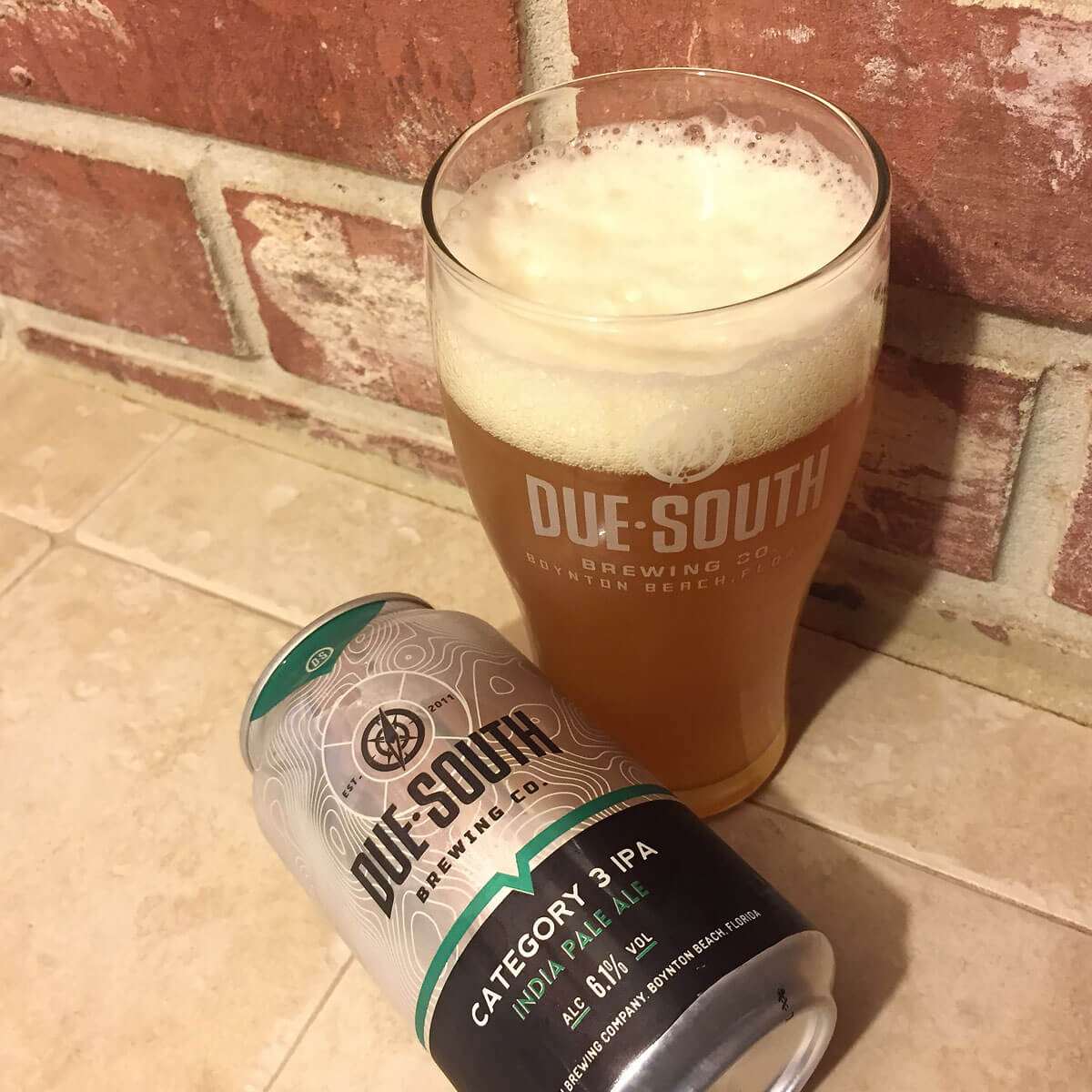 Category 3, an American IPA by Due South Brewing Co.