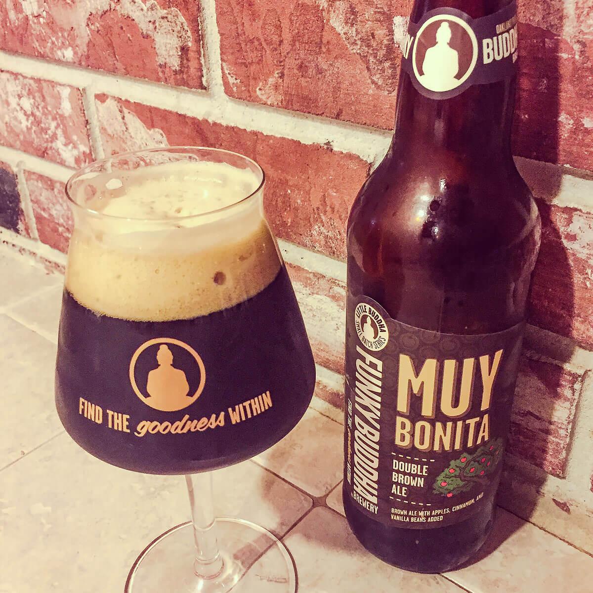 Muy Bonita, an American Brown Ale by Funky Buddha Brewery