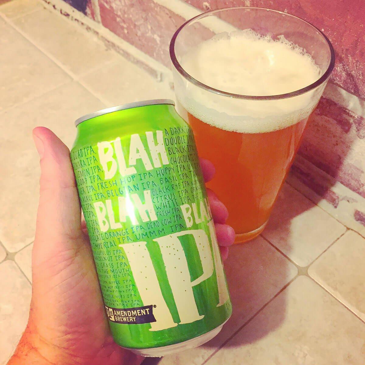 Blah Blah Blah IPA, an American Double IPA by 21st Amendment Brewery