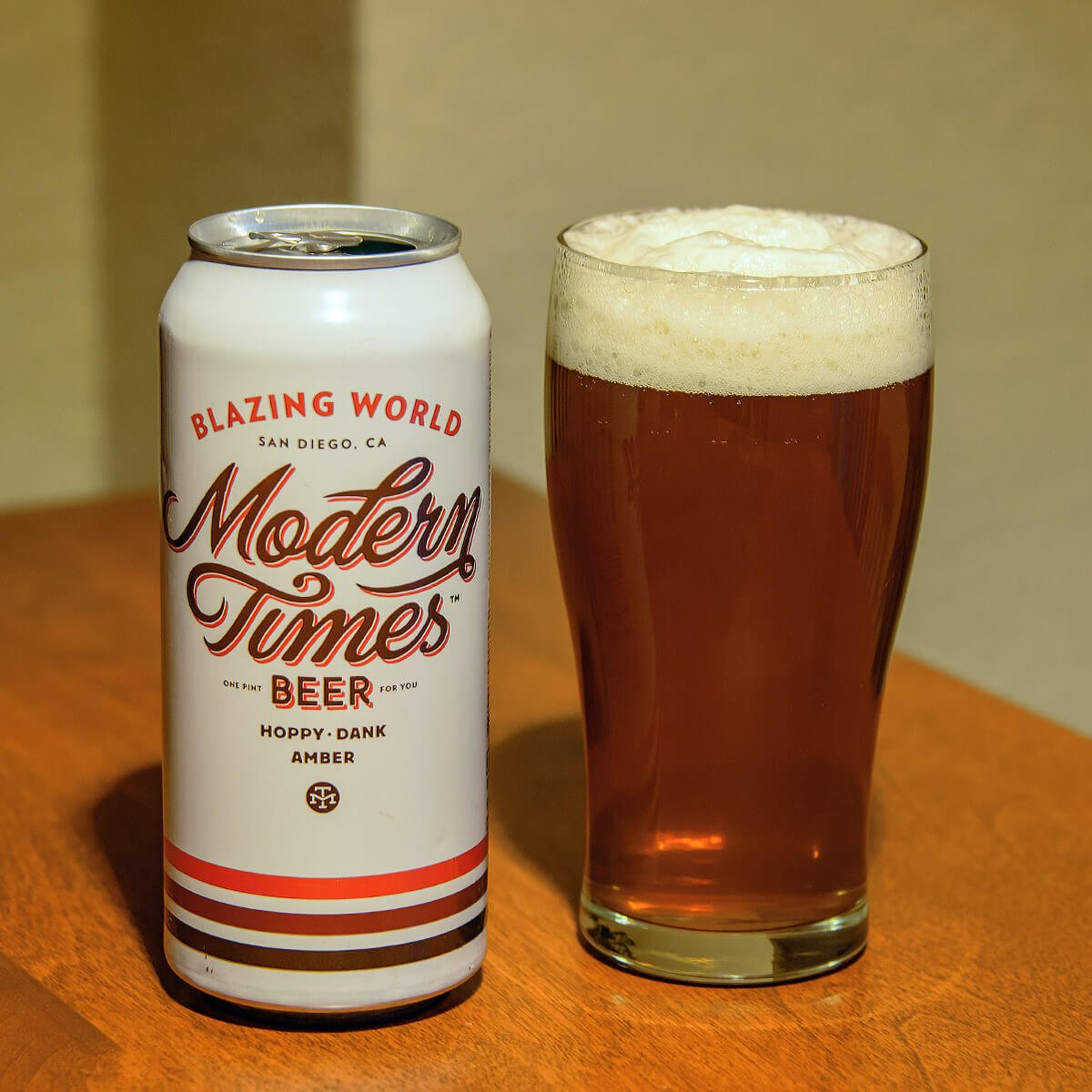 Blazing World, an American Amber Ale by Modern Times Beer