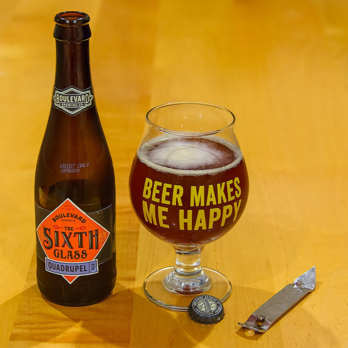 The Sixth Glass, a Belgian-style Quadrupel by Boulevard Brewing Co.