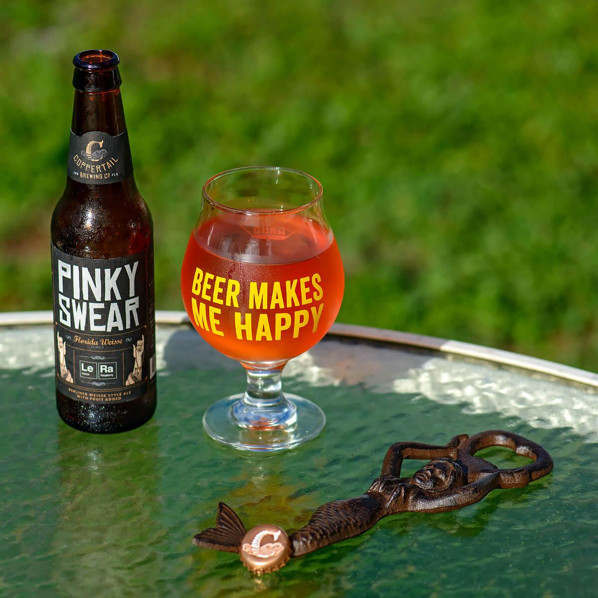 Pinky Swear, a Berliner Weisse by Coppertail Brewing Co.