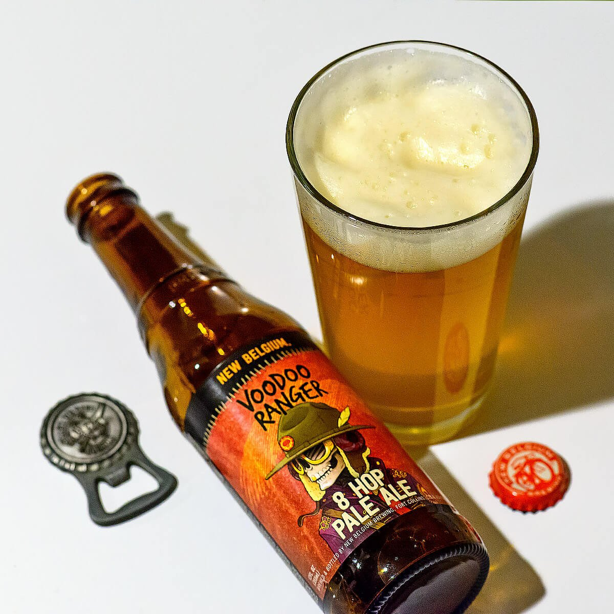 Voodoo Ranger 8 Hop Pale Ale, an American Pale Ale by New Belgium Brewing Company