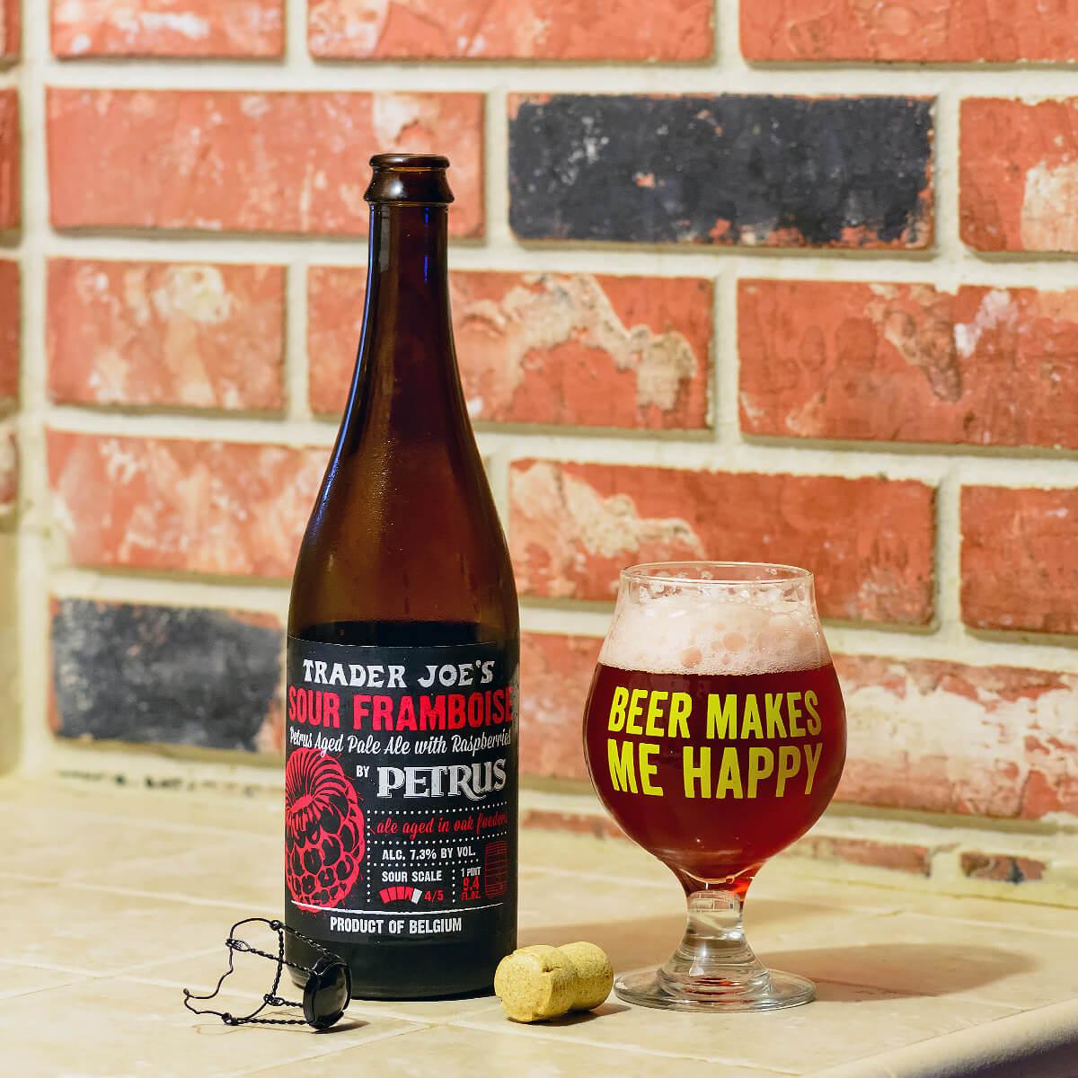 Trader Joe's Sour Framboise, a Belgian Pale Ale by De Brabandere
