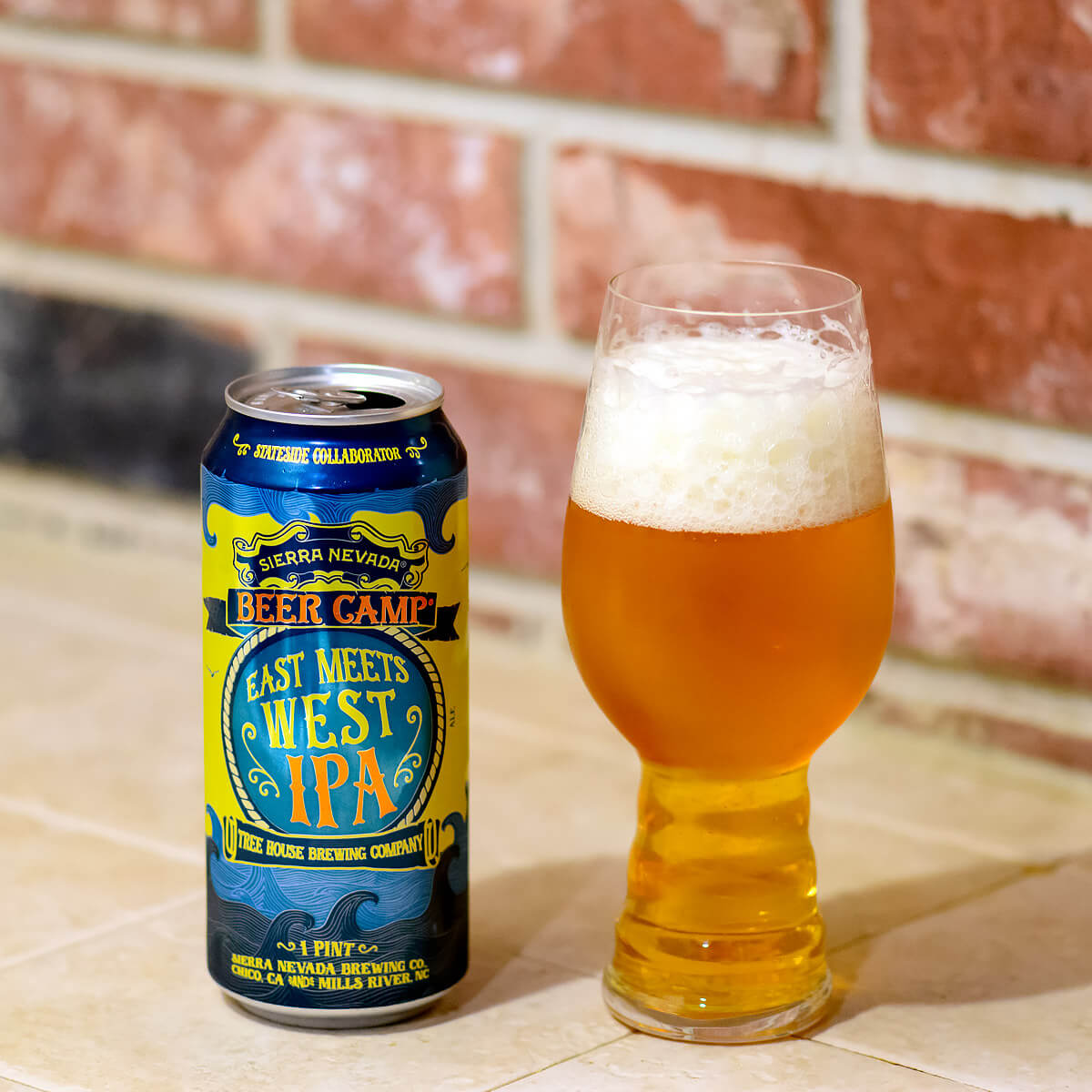 East Meets West IPA, an American IPA collaboratively brewed by Sierra Nevada Brewing Co. and Tree House Brewing Company