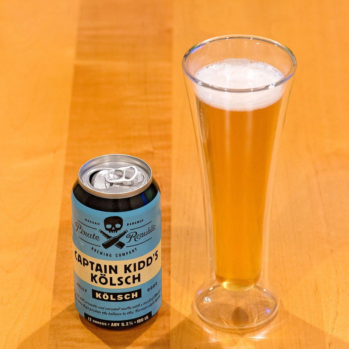 Captain Kidd's Kölsch, a German-style Kölsch by Pirate Republic Brewing Company