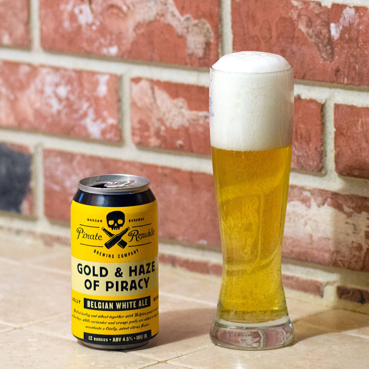 Gold & Haze of Piracy, a Belgian-style Witbier by Pirate Republic Brewing Company