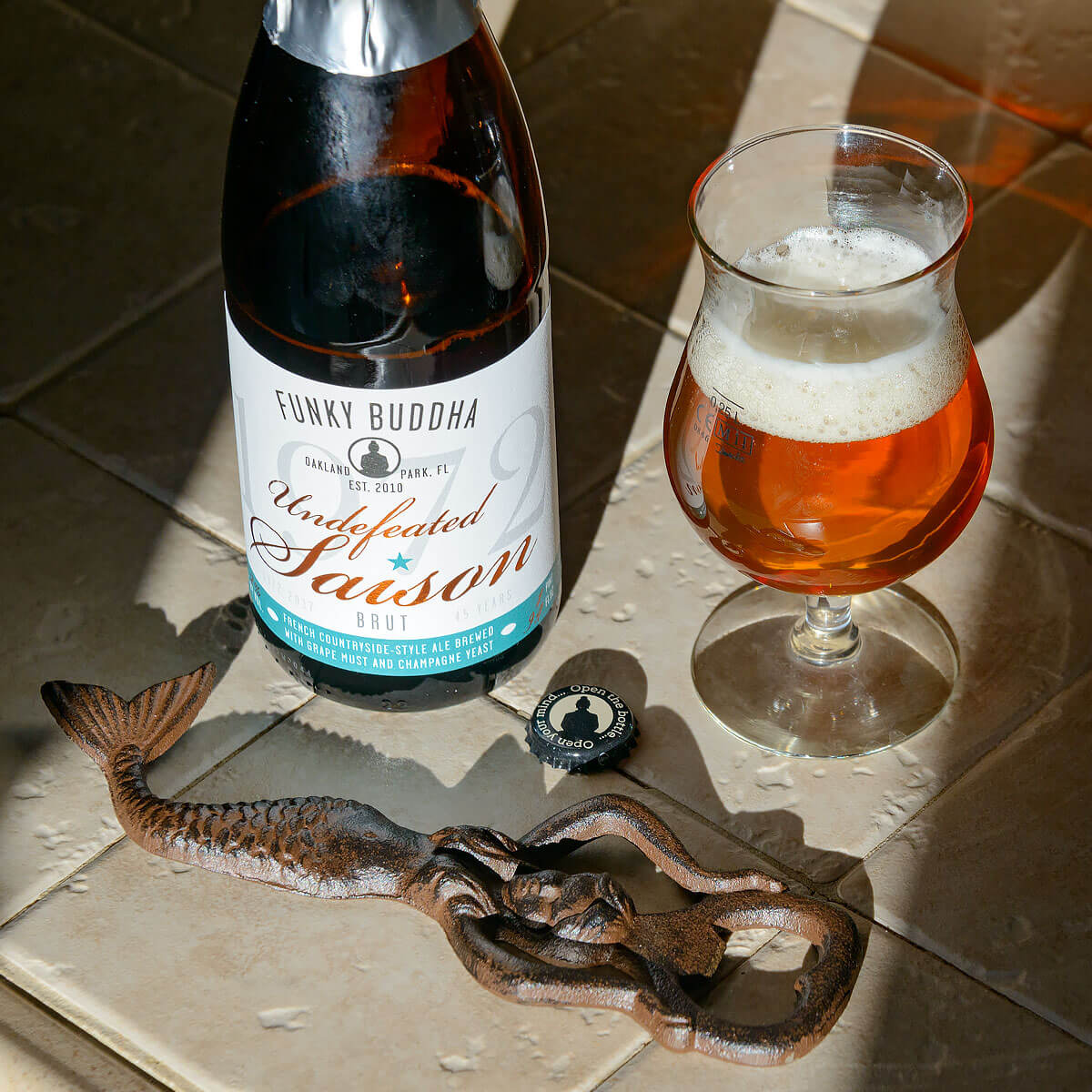 Undefeated Saison, a Belgian-style Saison by Funky Buddha Brewery