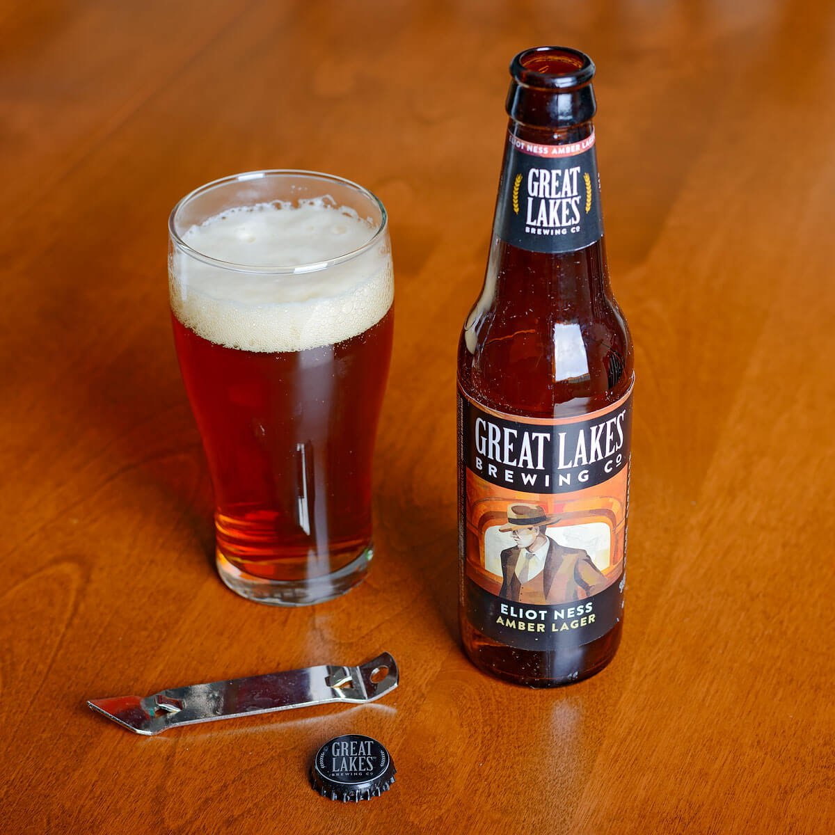 Eliot Ness Amber Lager, a Vienna Lager by Great Lakes Brewing Co.