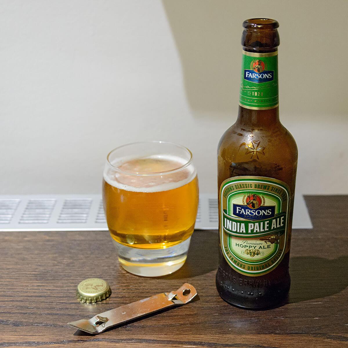 Farsons India Pale Ale, an English-style IPA by Simonds Farsons Cisk Plc.