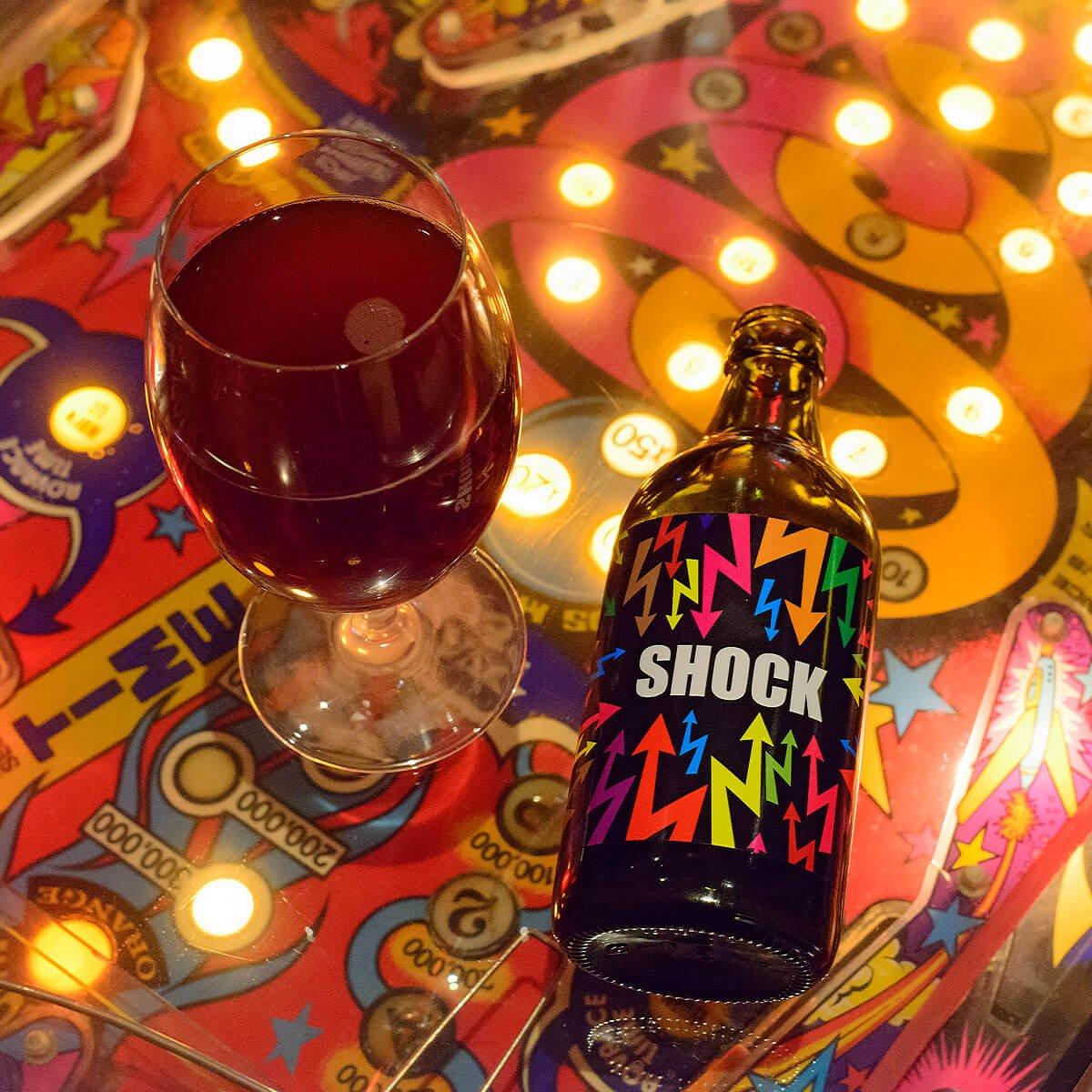Shock, a Belgian-style Strong Dark Ale brewed by Birradamare SRL
