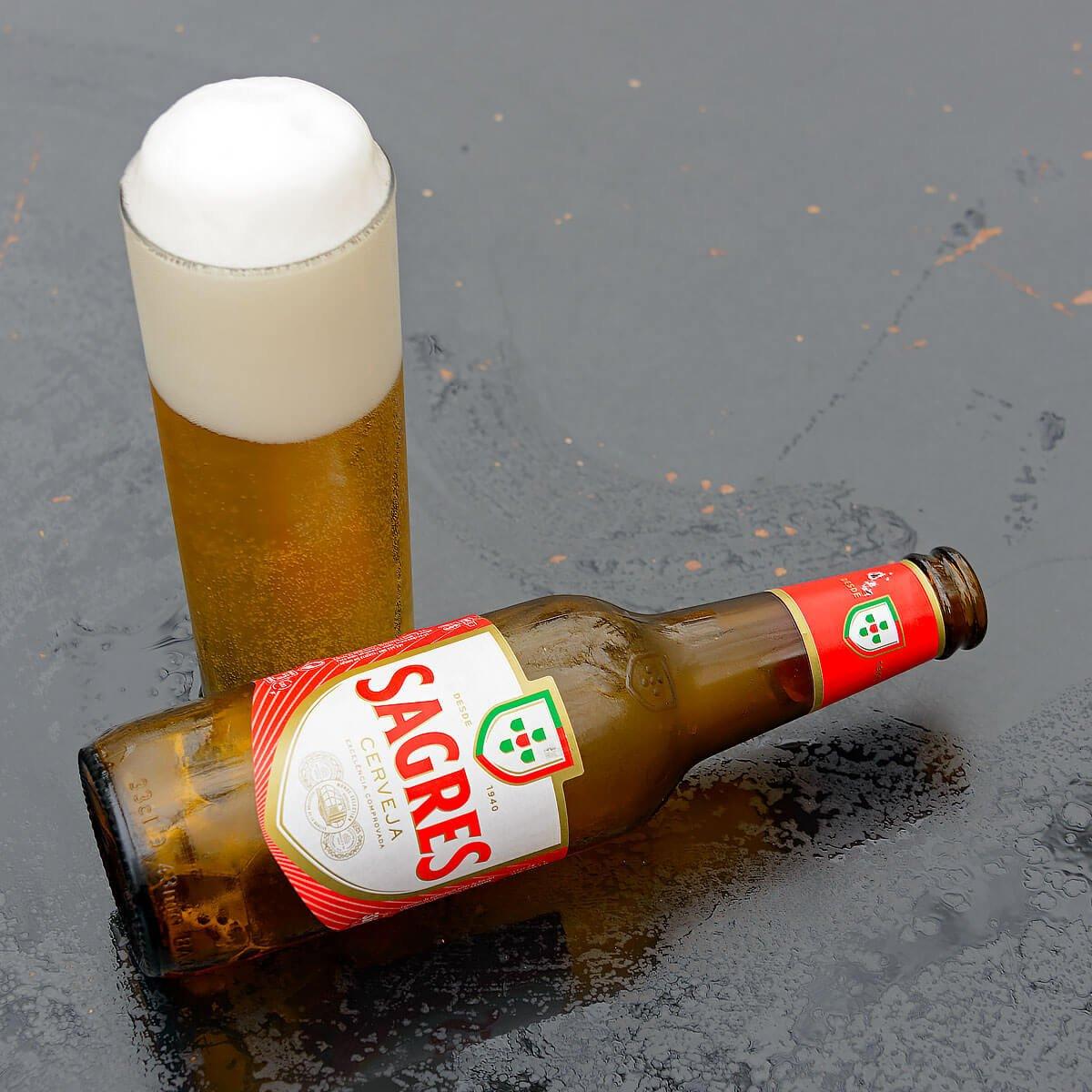 Sagres Cerveja, a Pale Lager by Sociedade Central de Cervejas