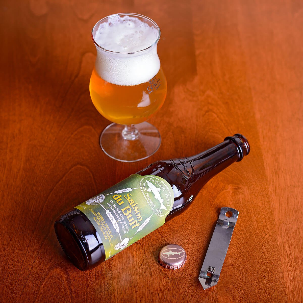 Saison Du BUFF, a Belgian-style Saison brewed in collaboration with Dogfish Head Craft Brewery, Stone Brewing Co., and Victory Brewing.