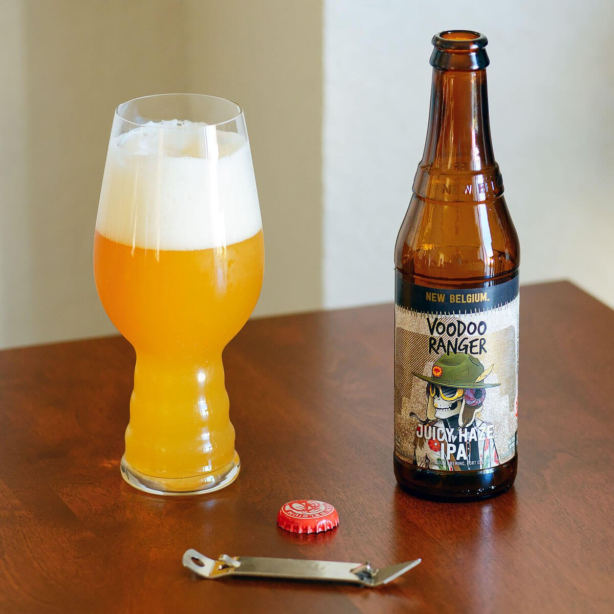 Juicy Haze IPA, an American IPA brewed in the New England style by New Belgium Brewing Company