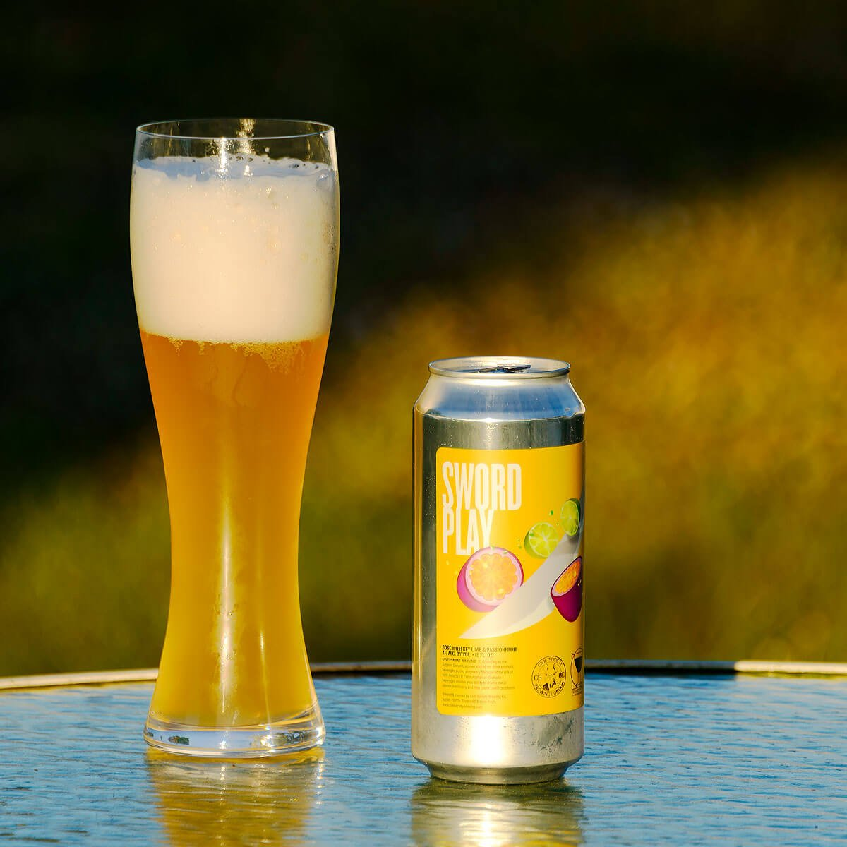 Sword Play, a German-style Gose collaboratively brewed by Civil Society Brewing Co. and Commonwealth Brewing Co.