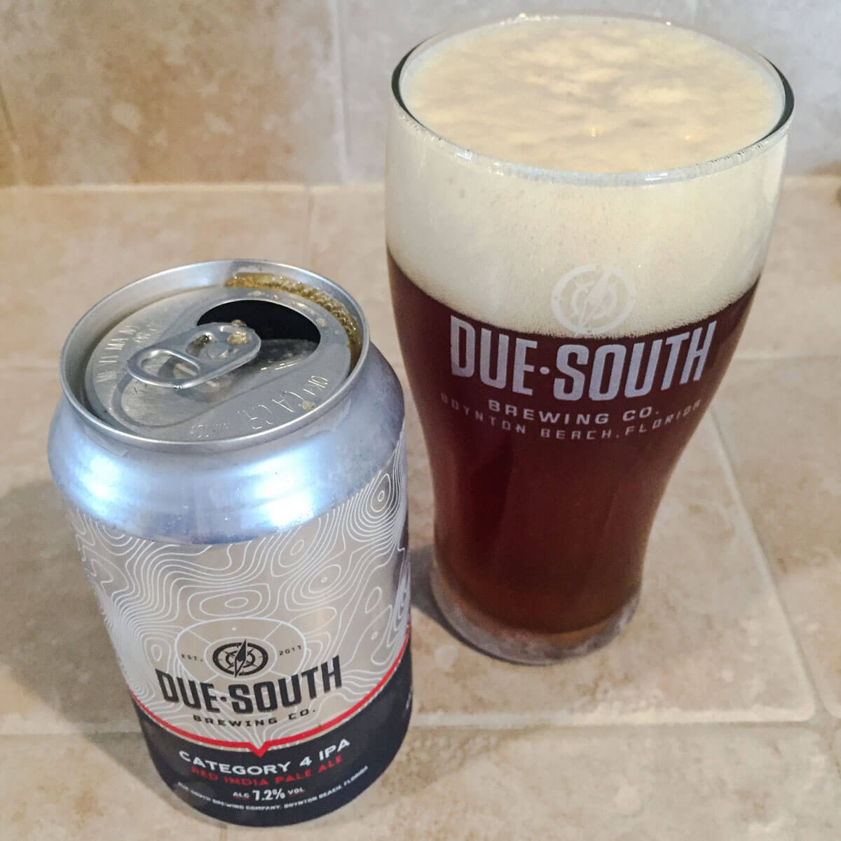Category 4, an American Red Ale by Due South Brewing Co.