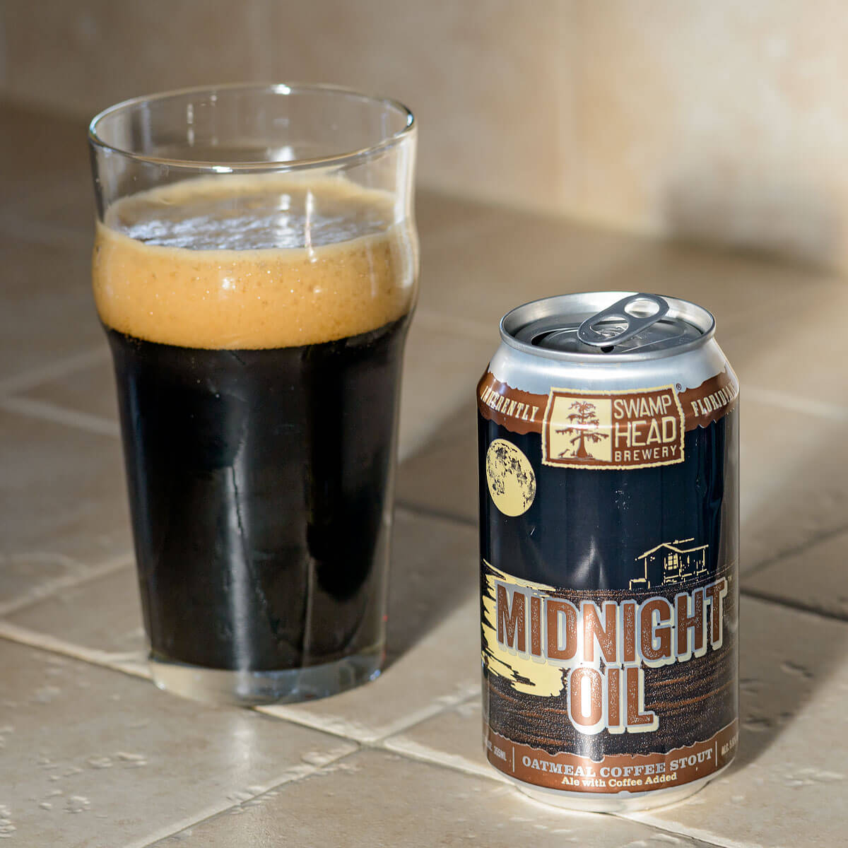 Midnight Oil, an English-style Oatmeal Stout by Swamp Head Brewery