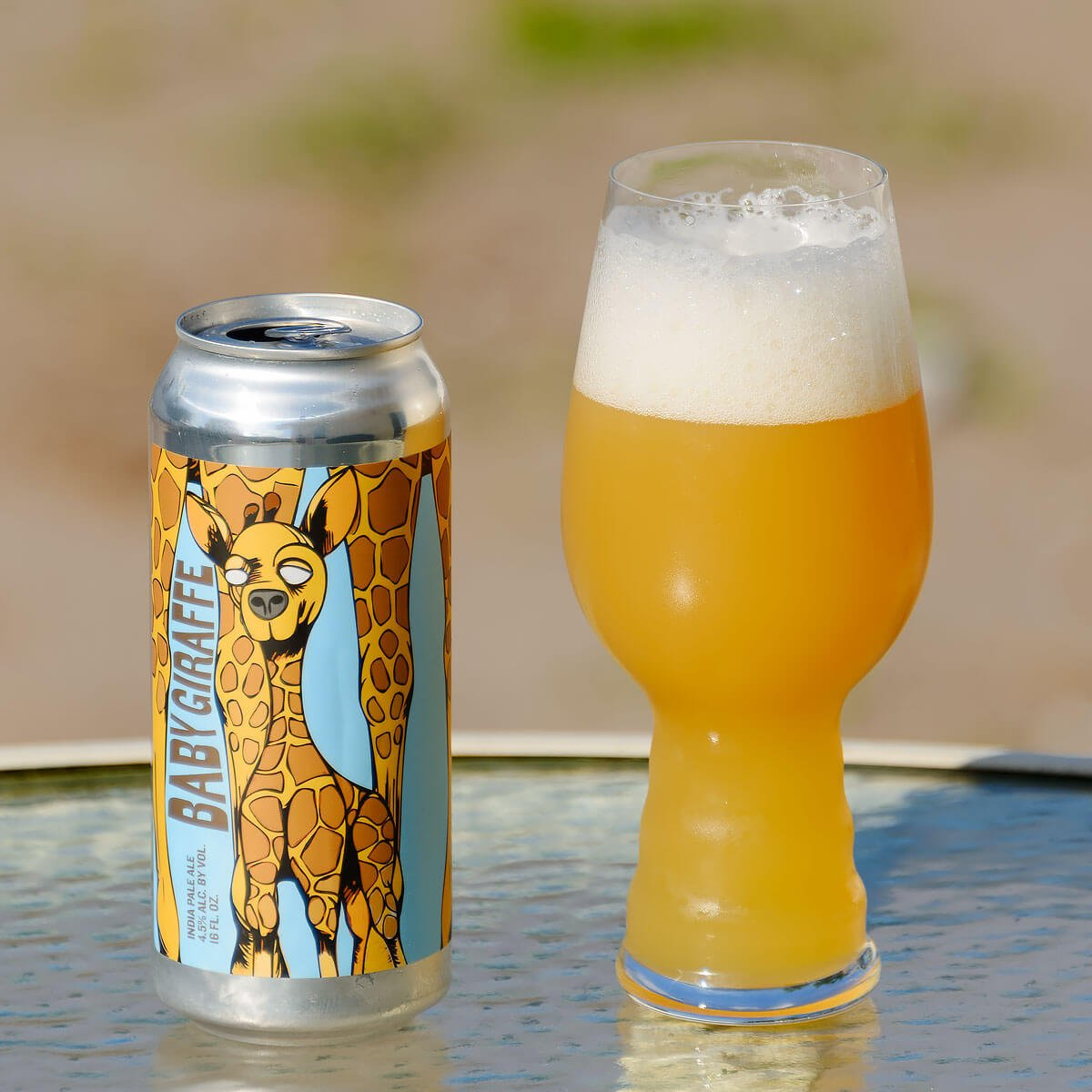 Baby Giraffe, a Session IPA collaboratively brewed by Civil Society Brewing Co. and Marble Brewery