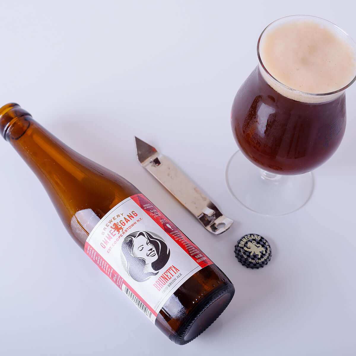 Brunetta, a Belgian-style Oud Bruin by Brewery Ommegang