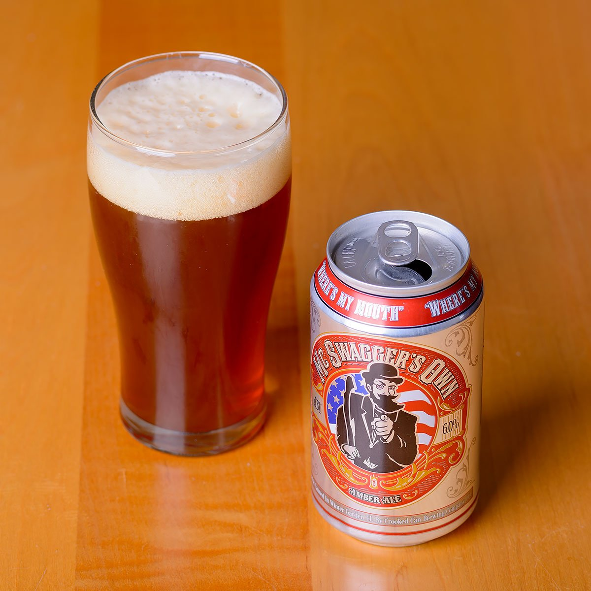McSwagger's Own, an American Amber Ale by Crooked Can Brewing Company