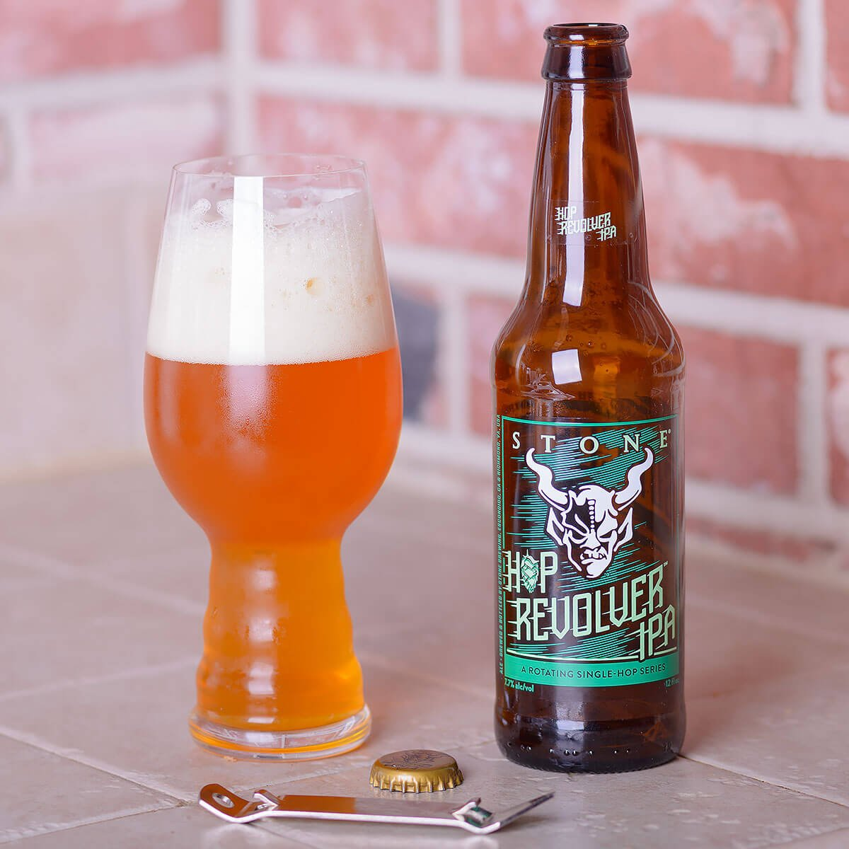 Stone Hop Revolver IPA, an American IPA by Stone Brewing