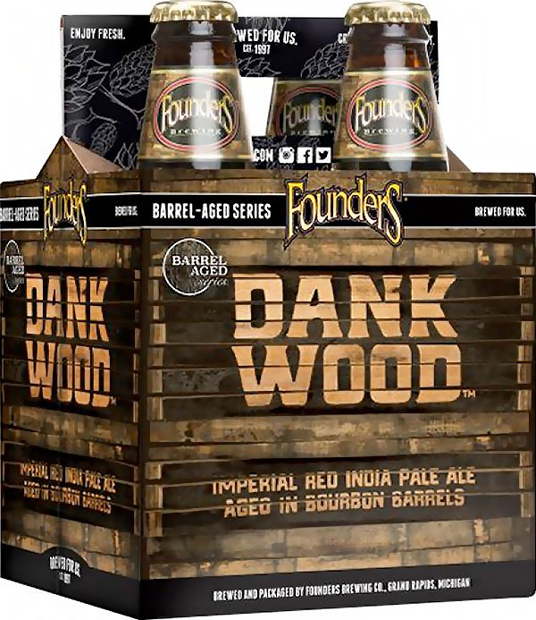 Packaging art for the Dankwood by Founders Brewing Co.