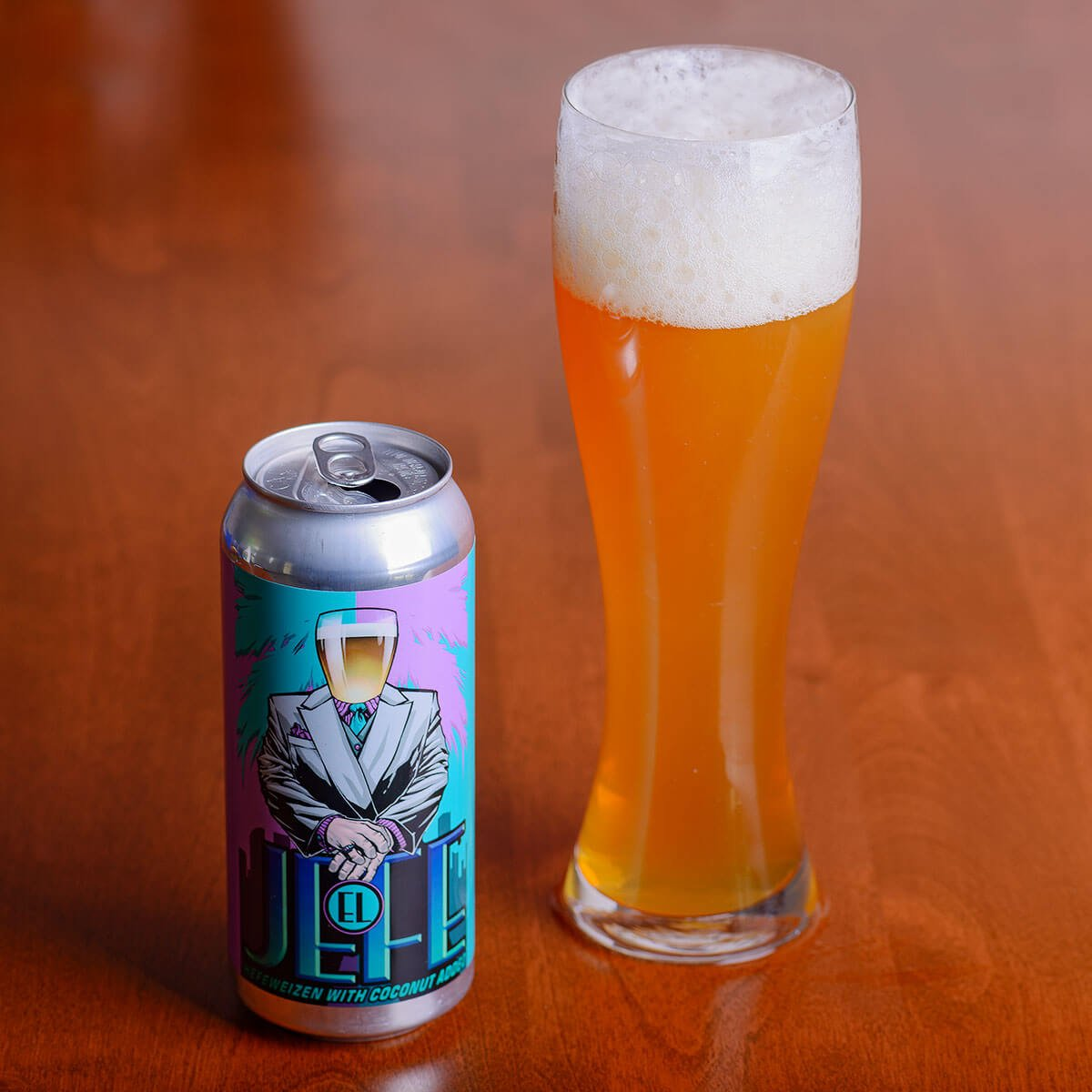 El Jefe, a German-style Hefeweizen by J. Wakefield Brewing