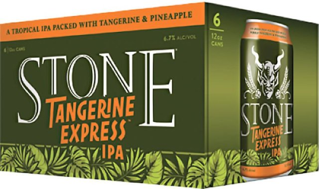 Packaging art for the Stone Tangerine Express IPA by Stone Brewing