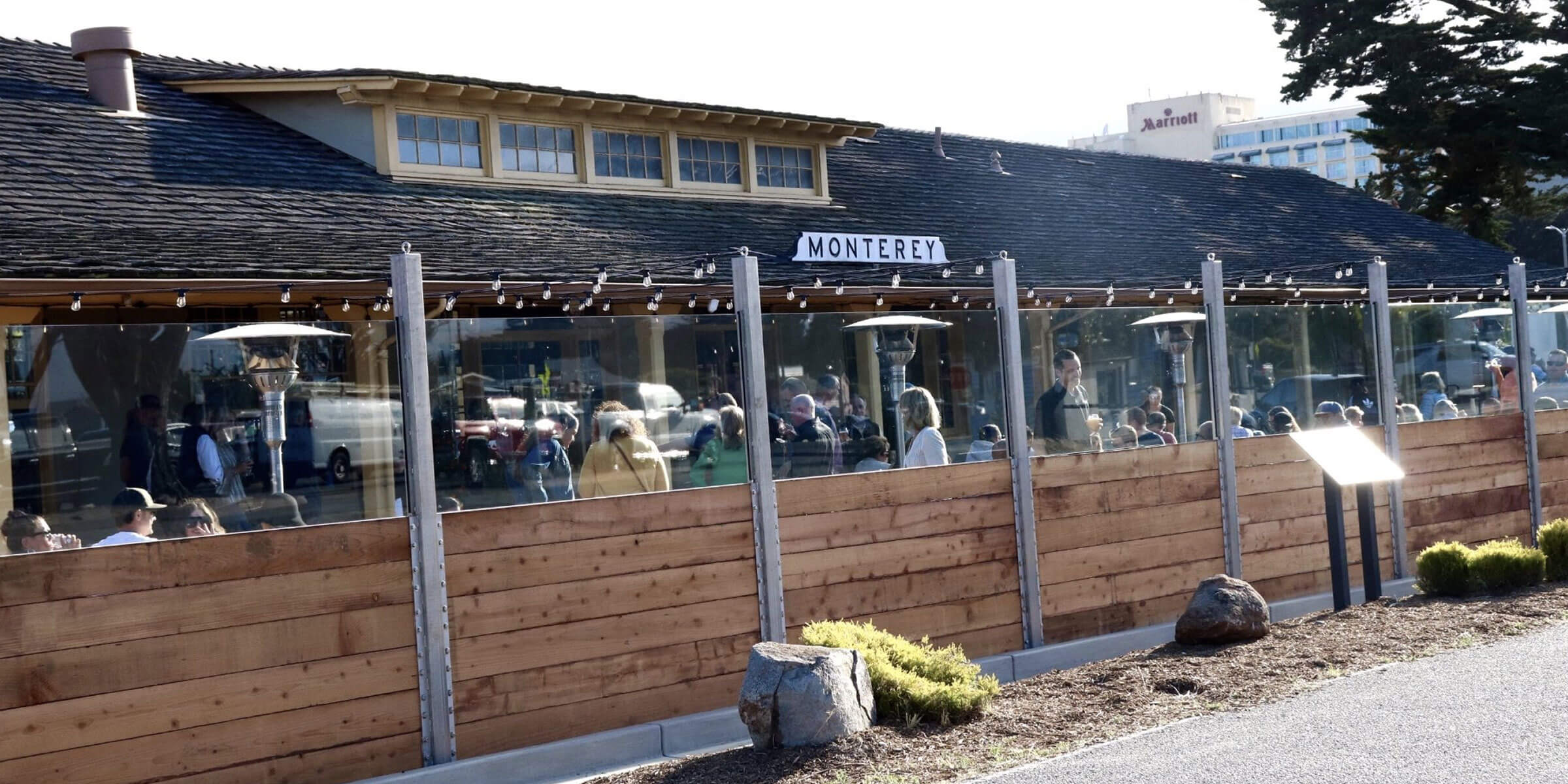 Outside the taproom at Dust Bowl Brewing Co. in Monterey, California