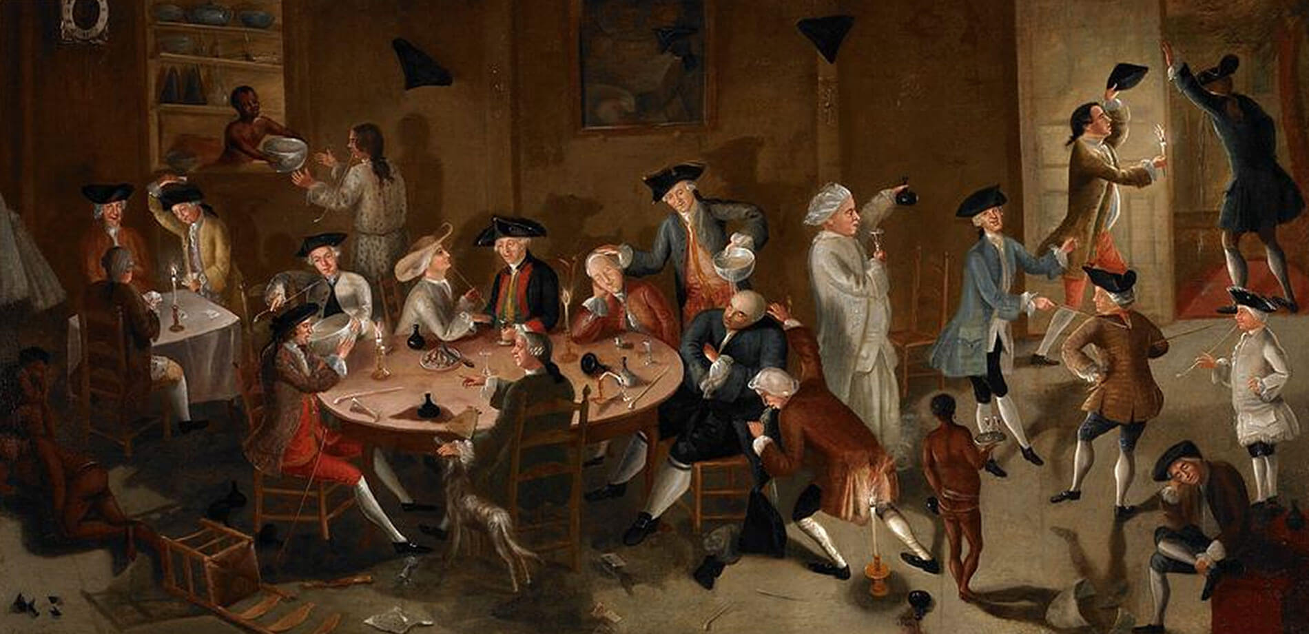 Sea Captains Carousing In Surinam, John Greenwood, 1755, Saint Louis Art Museum