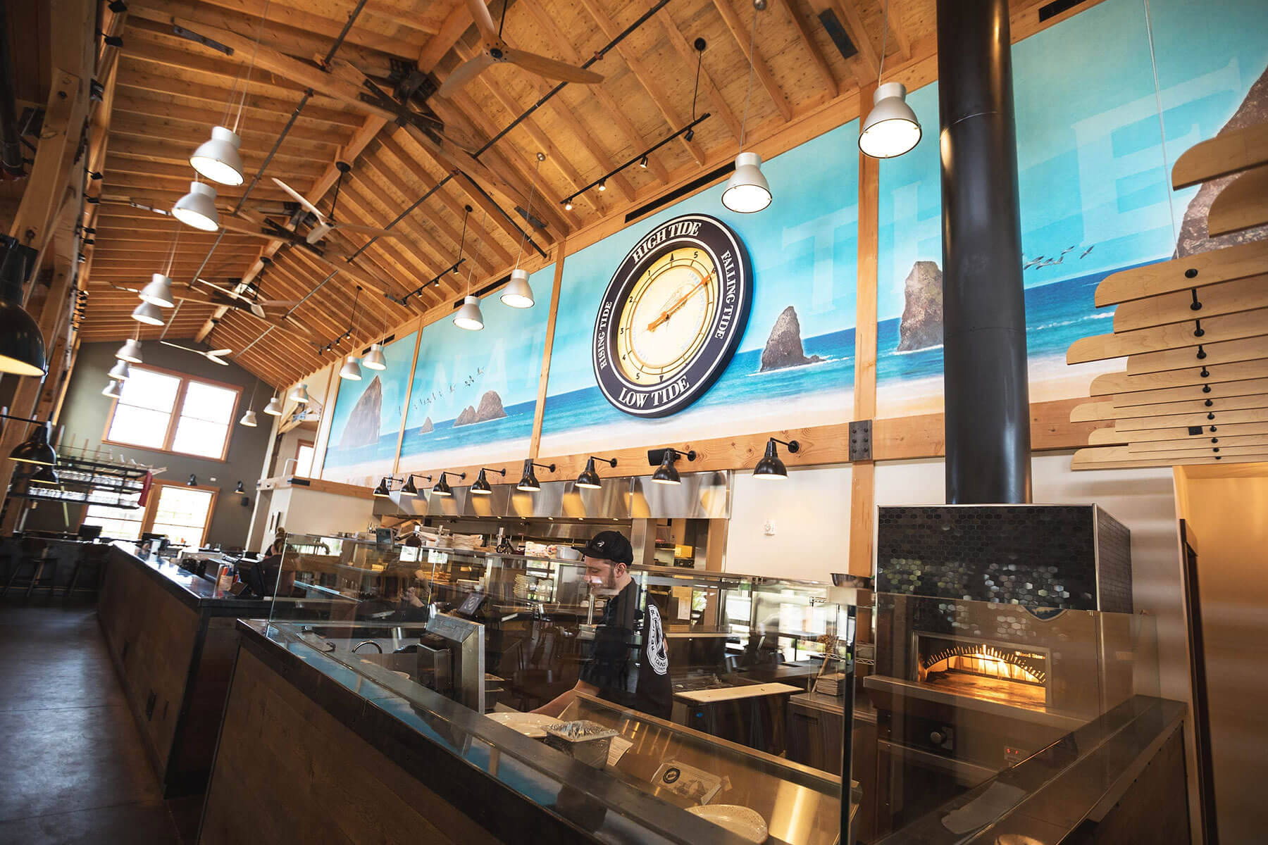 Inside the taproom at the Pelican Brewing Company Cannon Beach Location