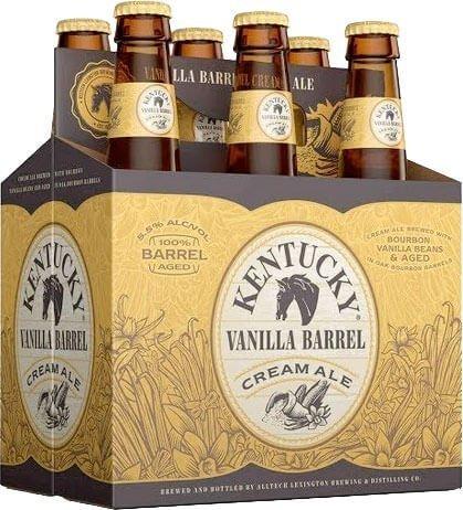 Packaging art for the Kentucky Vanilla Barrel Cream Ale by Alltech Lexington Brewing & Distilling Co.