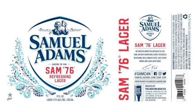 Label art for the Sam '76 by Boston Beer Company
