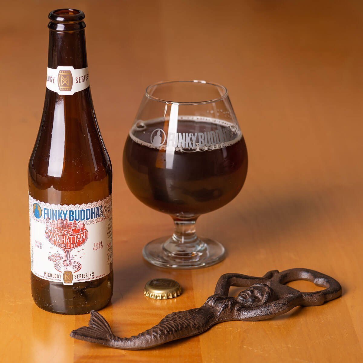 The Manhattan Double Rye Ale is a Rye Beer by Funky Buddha Brewery that's complex, sticky sweet, and as boozy as a cocktail. Here's why you should give it a try.