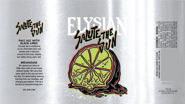 Label art for the Salute the Sun by Elysian Brewing Company