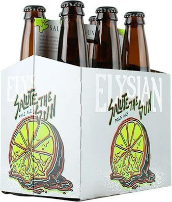 Packaging art for the Salute the Sun by Elysian Brewing Company