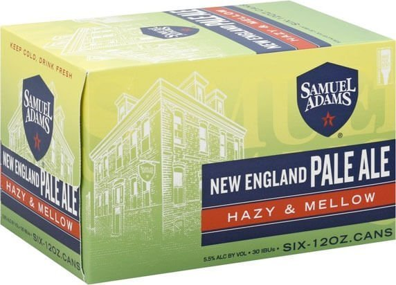 Packaging art for the New England Pale Ale by Boston Beer Company