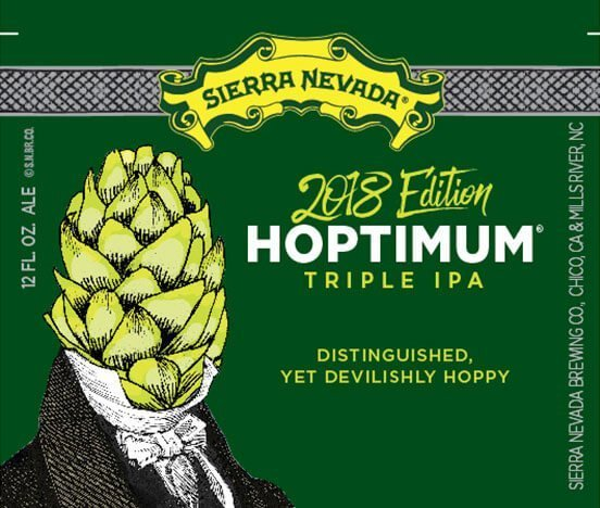 Label art for the Hoptimum by Sierra Nevada Brewing Co.