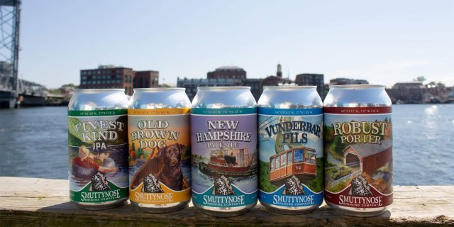 New Smuttynose Labels for Finest Kind IPA, Old Brown Dog, New Hampshire Pale Ale, Vunderbar Pils, and the Robust Porter
