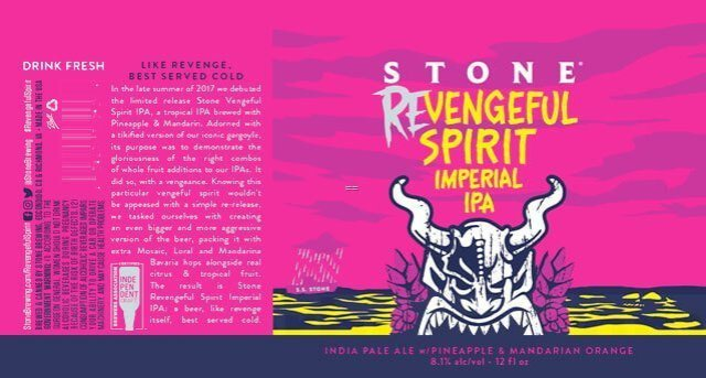 Label art for the Revengeful Spirit Imperial IPA by Stone Brewing