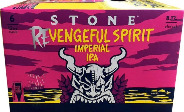 Packaging art for the Revengeful Spirit Imperial IPA by Stone Brewing