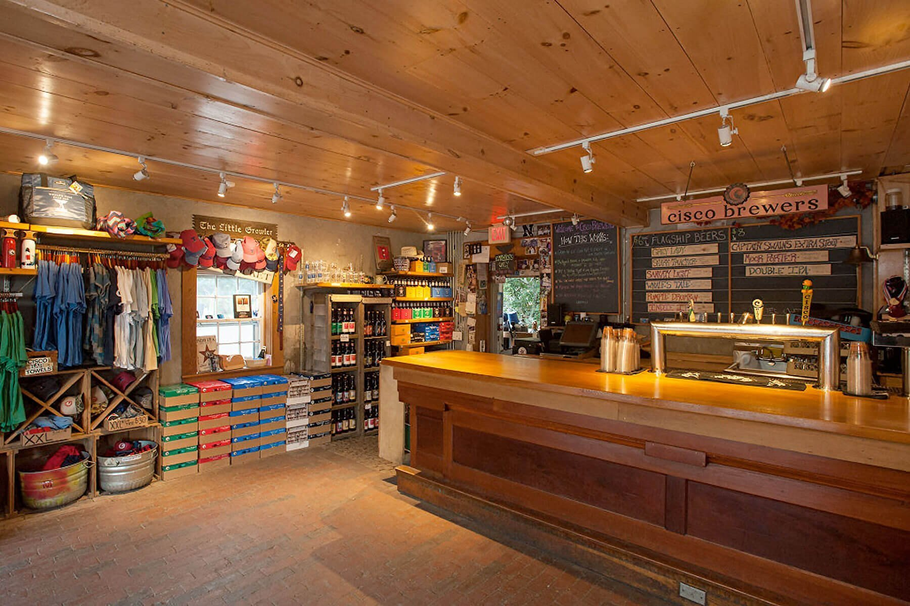 Inside the Cisco Brewers taproom in Nantucket, Massachusetts