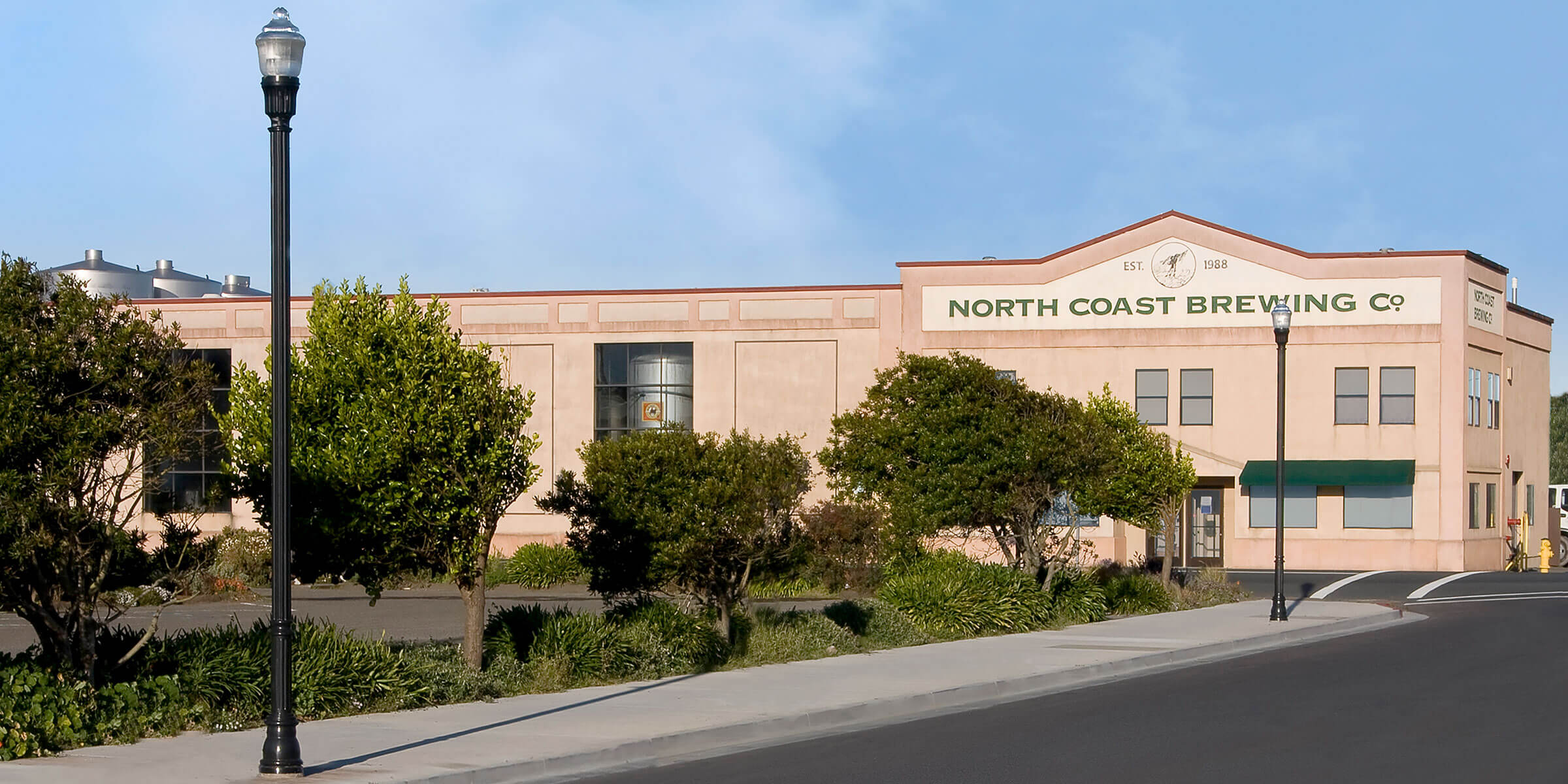 Outside North Coast Brewing Co. in Fort Bragg, California