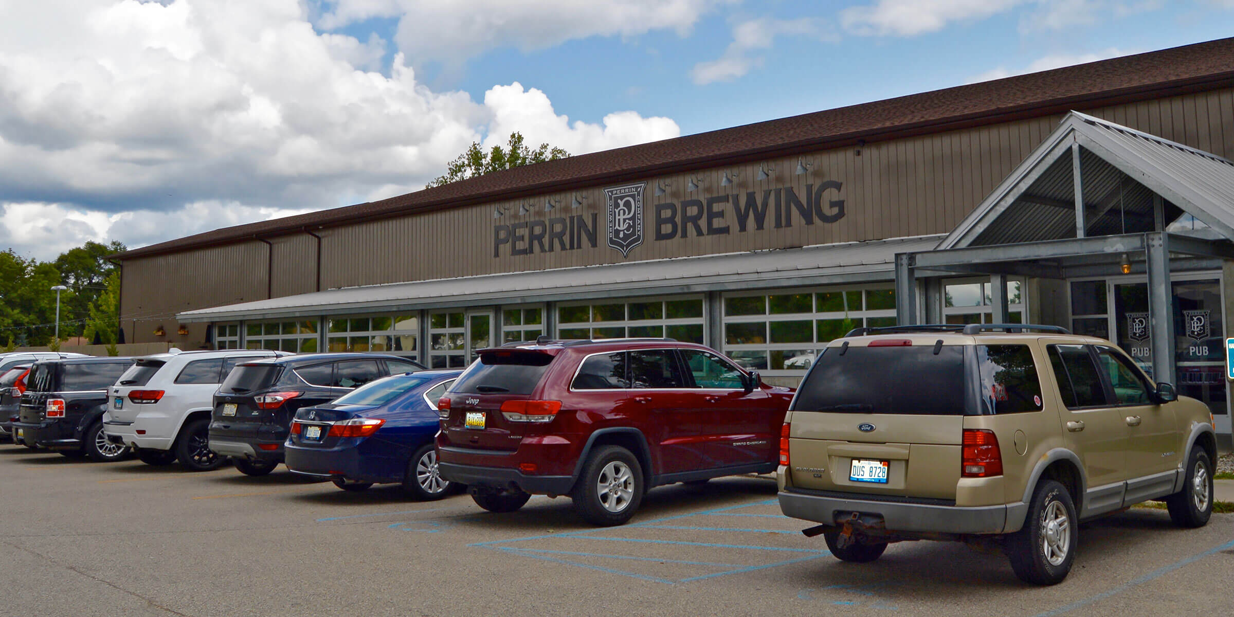 Outside the Entrance to Perrin Brewing Company in Grand Rapids, Michigan