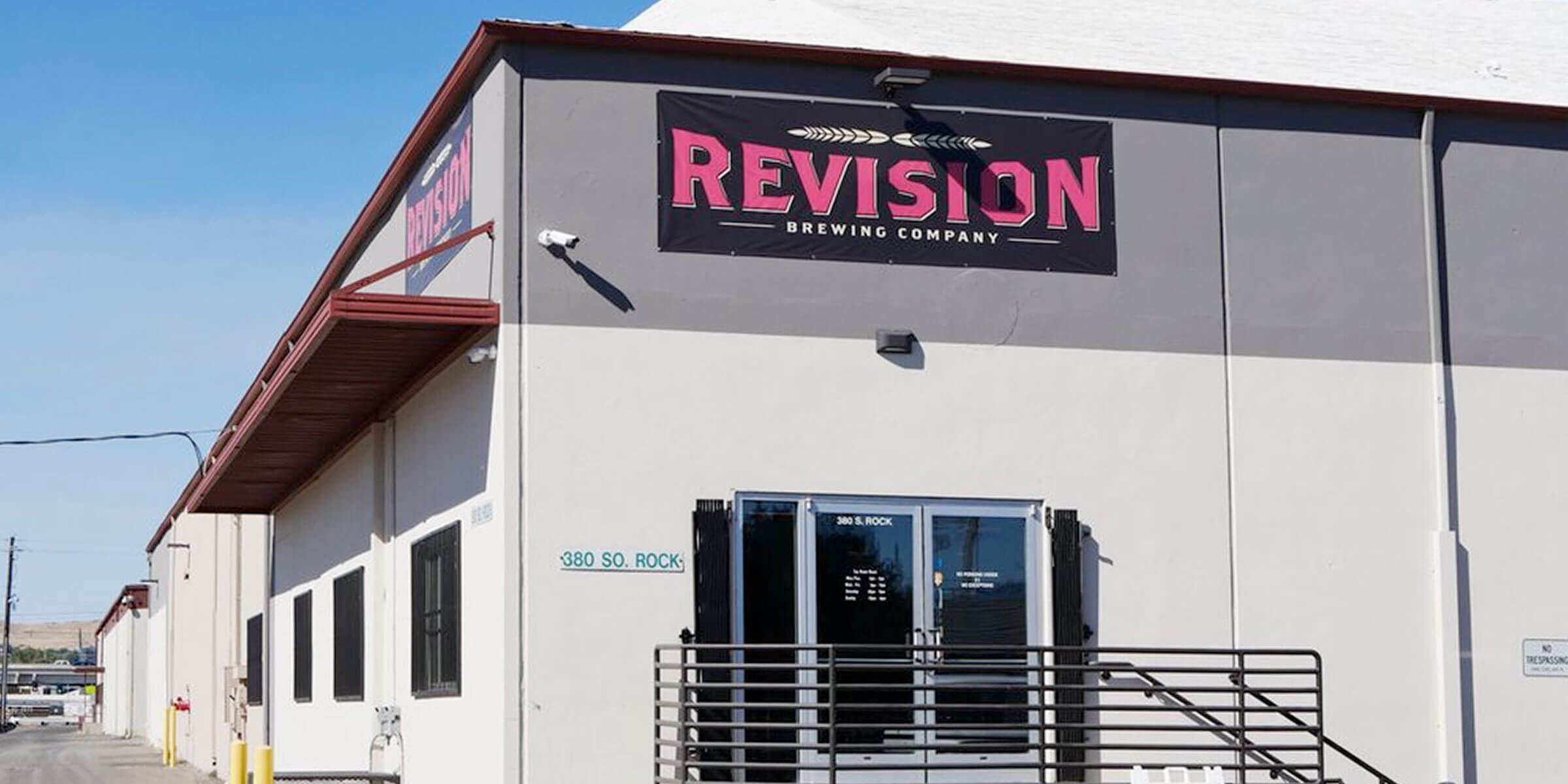 Outside the entrance to the Revision Brewing Company taproom in Sparks, Nevada
