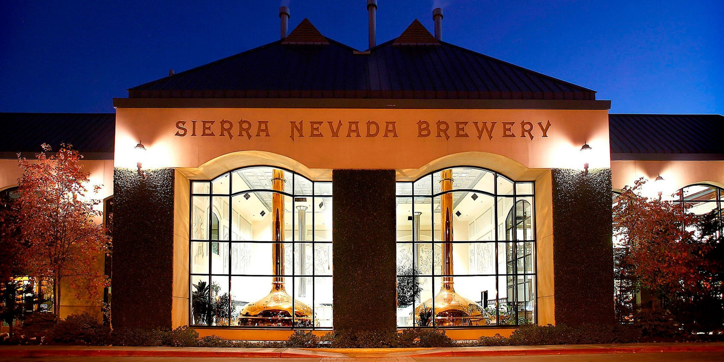 Outside the Brewery of Sierra Nevada Brewing Co. in Chico, California