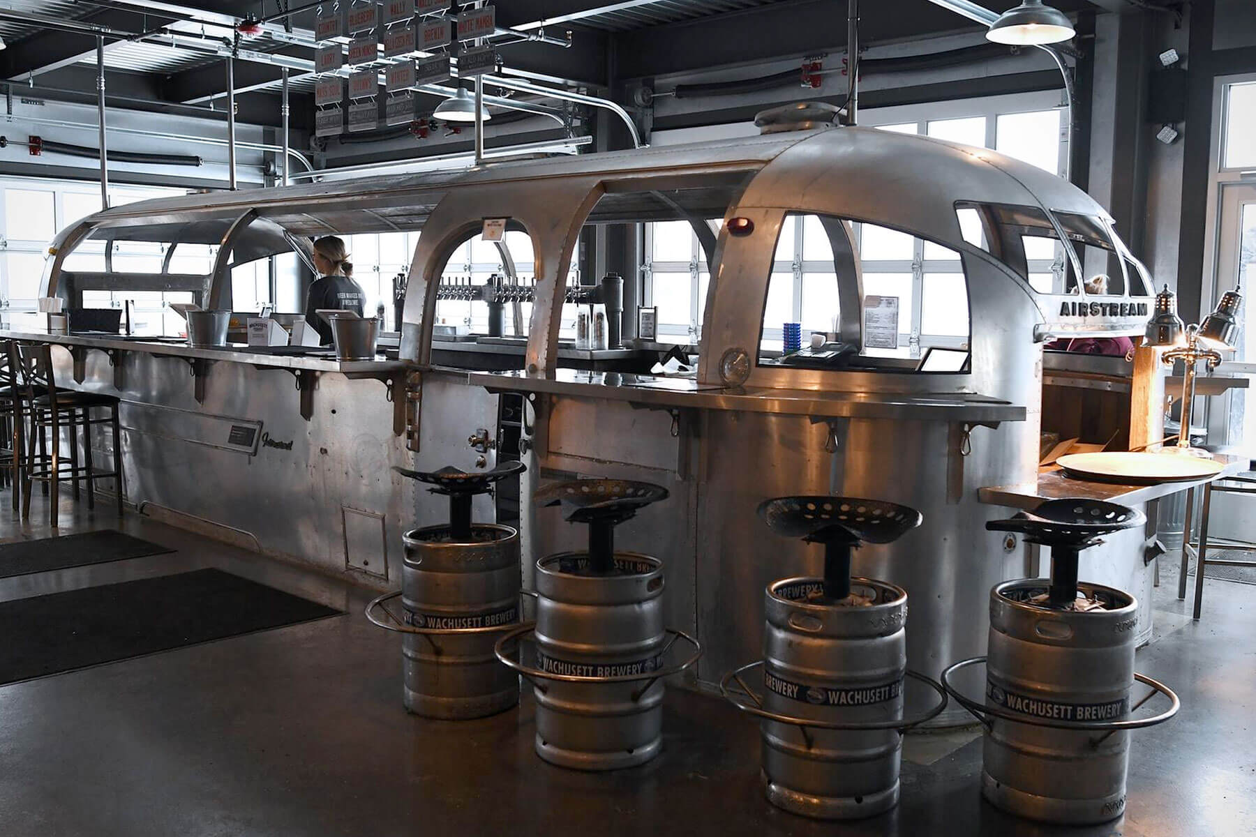 Inside the taproom at Wachusett Brewing Company Brewery in Westminster, Massachusetts