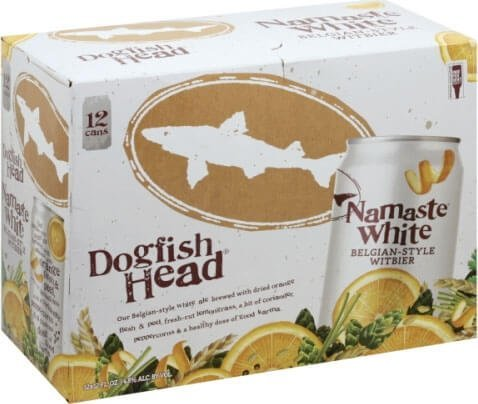 Packaging art for the Namaste White by Dogfish Head Craft Brewery
